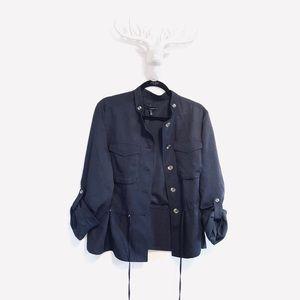 WHBM   utility military navy jacket • 14